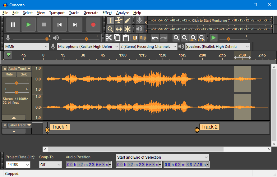 Audacity Dark Theme